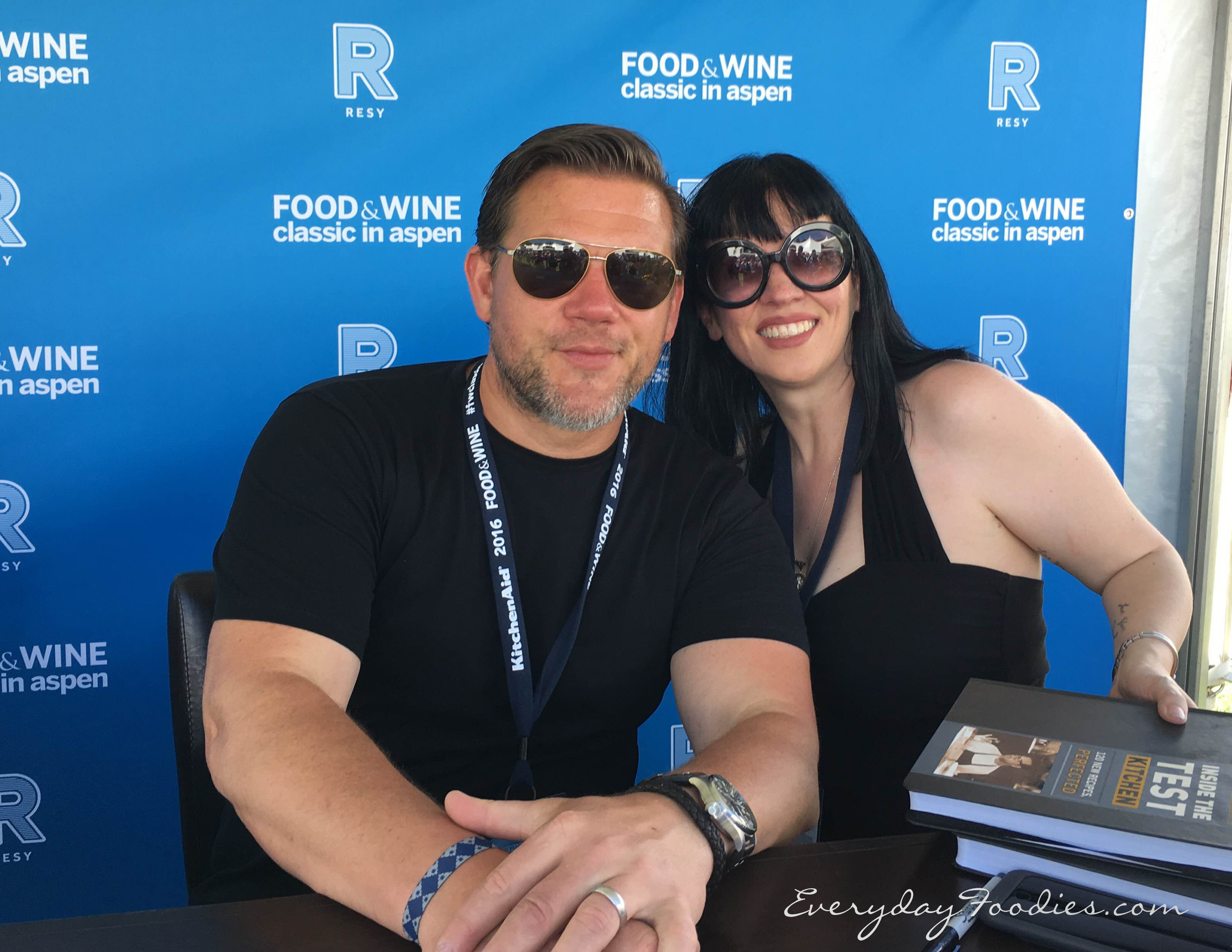 Tyler Florence and Rayett