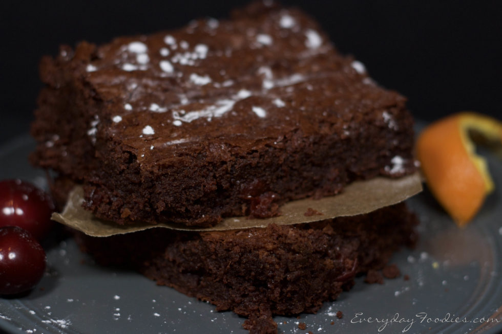 A different take on Ina Garten's AMAZING Brownies (Chocolate, Cherry, Orange)